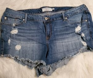 Torrid Distressed Jean Shorts Size 20